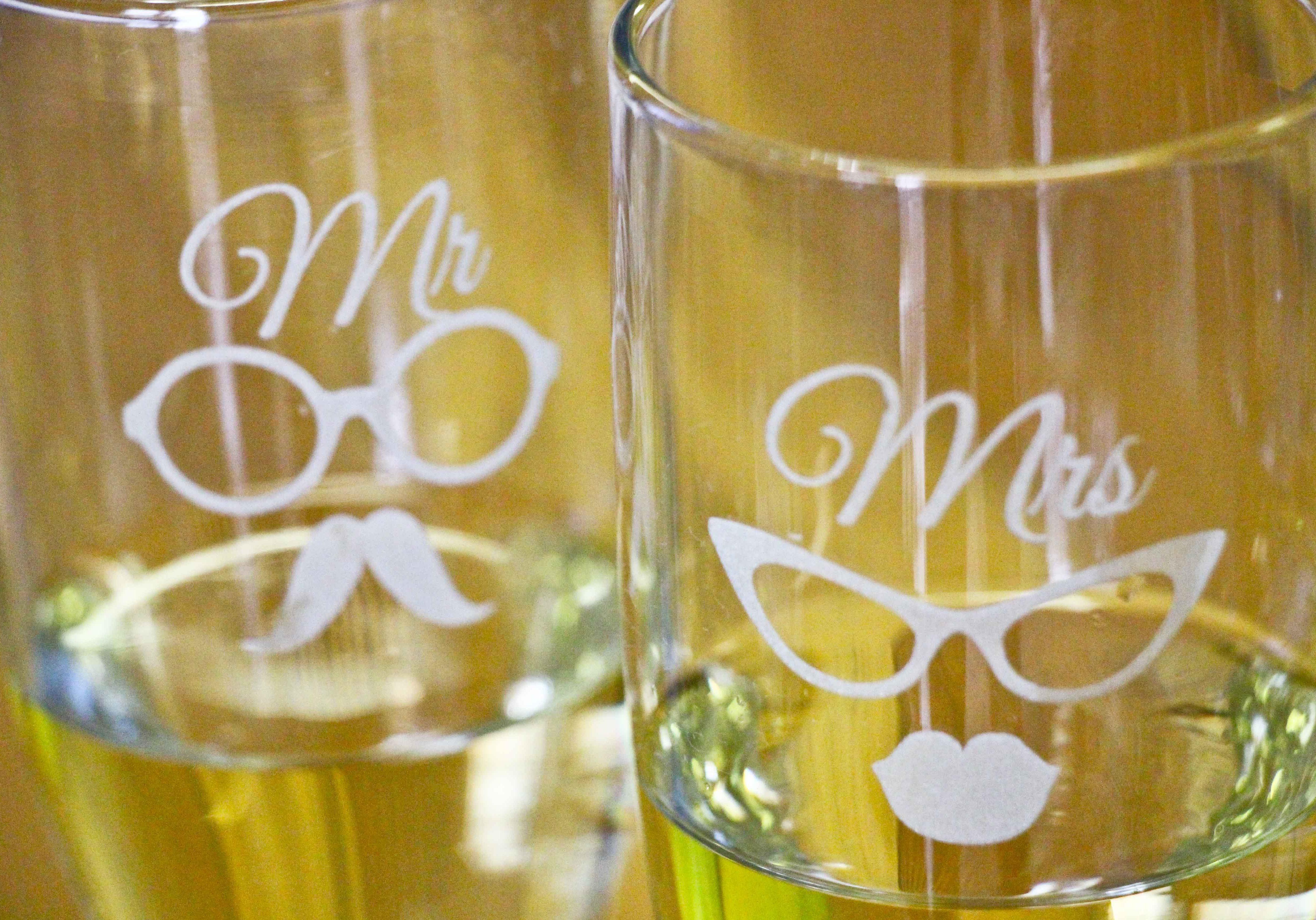 Laser Engraved Champagne Glasses